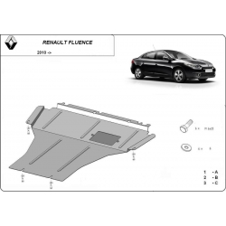 Renault Fluence cover under the engine - Metal sheet
