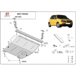 Seat Arosa  cover under the engine 1.0, 1.4, 1.4Tdi, 1.7Sdi - Metal sheet