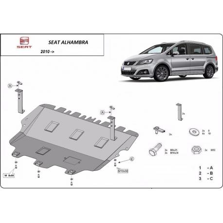Seat Alhambra Unterfahrschutz - Stahl