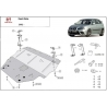 Seat Ibiza Diesel cover under the engine - Metal sheet