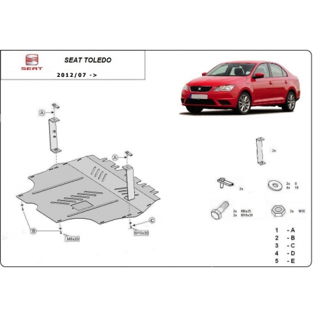 Seat Toledo 4 cover under the engine - Metal sheet