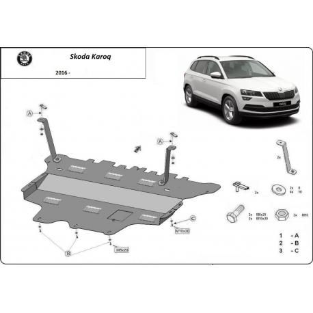 Skoda Karoq Unterfahrschutz - Stahl