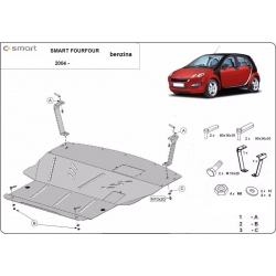 Smart FourFour cover under the engine - Metal sheet