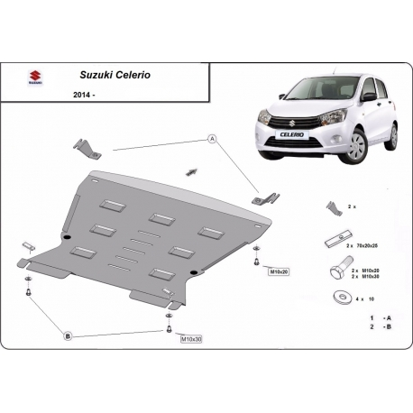 Suzuki Celerio Unterfahrschutz - Stahl