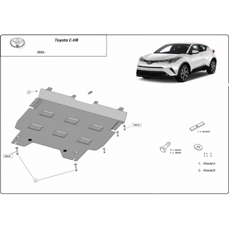 Toyota C-HR cover under the engine - Metal sheet