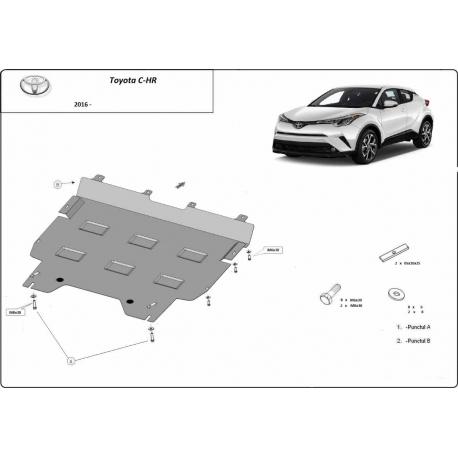 Toyota C-HR Unterfahrschutz - Stahl