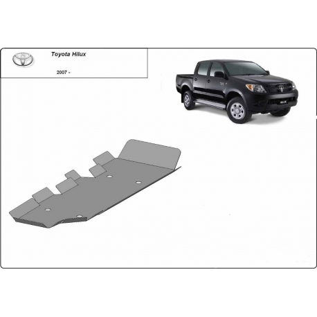 Toyota Hilux Cover under the fuel tank - Metal sheet