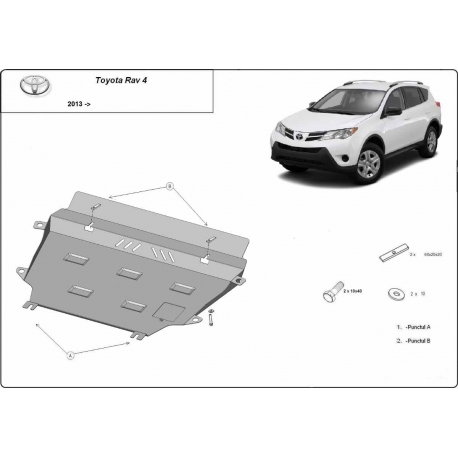 Toyota RAV 4 cover under the engine - Metal sheet