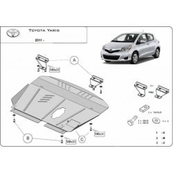 Toyota Yaris cover under the engine - Metal sheet