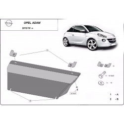 Opel Adam cover under the engine - Metal sheet