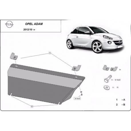 Opel Adam Unterfahrschutz - Stahl