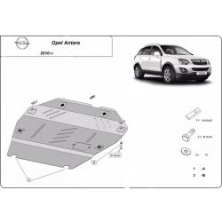 Opel Antara cover under the engine 2,4 - Metal sheet