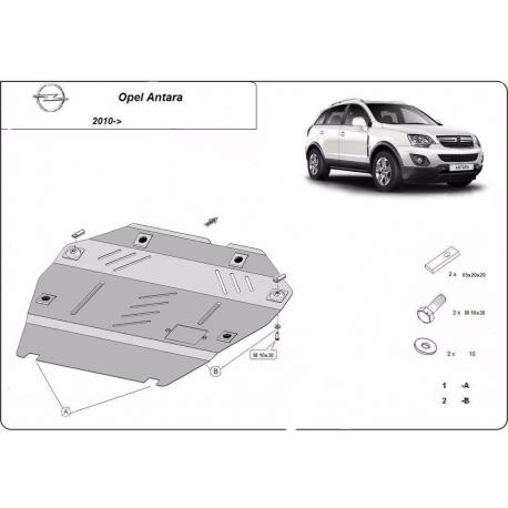 Opel Antara Unterfahrschutz 2,4 - Stahl