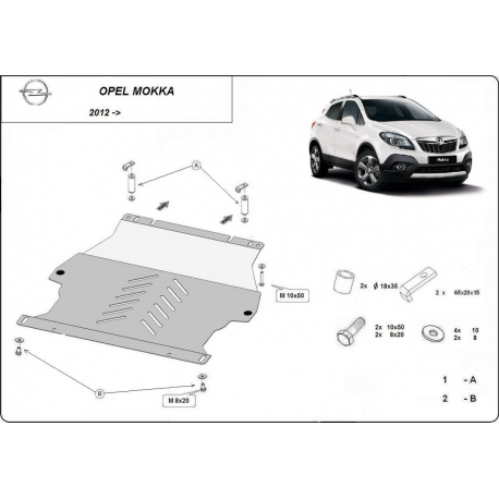 Opel Mokka cover under the engine - Metal sheet