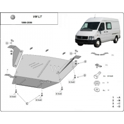 VW LT cover under the engine - Metal sheet