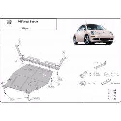VW New Beetle cover under the engine 1.6,1.8Turbo,2.0 - Metal sheet