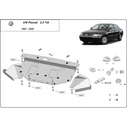 VW Passat cover under the engine 2.5 Tdi, V6 - Metal sheet