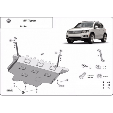 VW Tiguan cover under the engine - Metal sheet