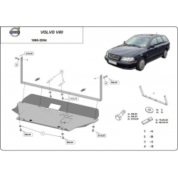 Volvo V40 cover under the engine - Metal sheet